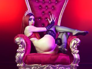 💖The wonderful Eden, the red queen drags you in her luxurious realm. From the top of her hot red hairdo to the soles of her high heels, her beauty is a timeless obsession.